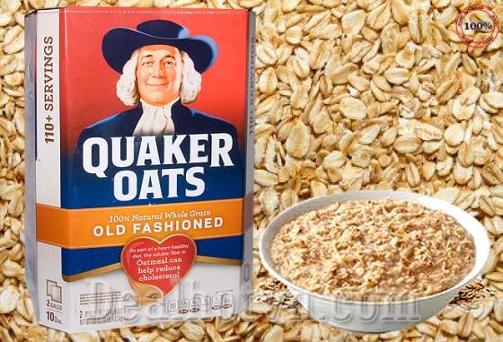 Yến mạch nguyên hạt Quaker Oats từ Mỹ