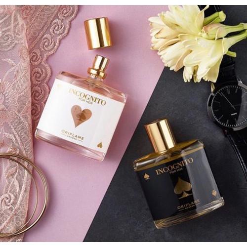 Bộ Incognito Oriflame gồm nước hoa nam và nước hoa nữ sang trọng và cá tính