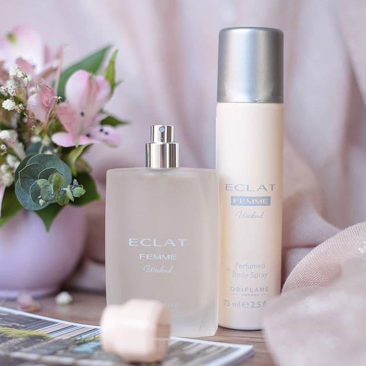 Bộ nước hoa nữ Eclat Femme Weekend gồm nước hoa nữ và chai xịt khử mùi cơ thể