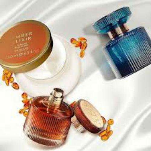 Bộ nước hoa và dưỡng thể Oriflame Amber Elixir hương hổ phách