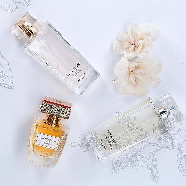 Các sản phẩm nước hoa nữ thuộc dòng Giordani Gold của Oriflame