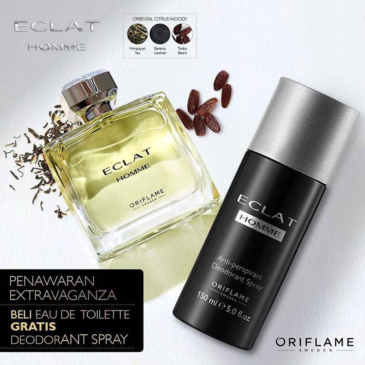Nước hoa namOriflame 30173 Eclat Homme có chai xịt khử mùi đi kèm đồng bộ mùi hương